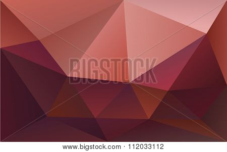Abstract Polygonal Geometric Background Marsala Colored, In Vector