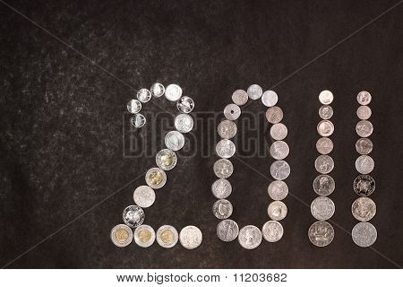 New Year 2011 In Coins