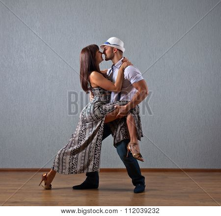 Dancing Young Couple