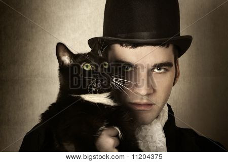 Man And Cat