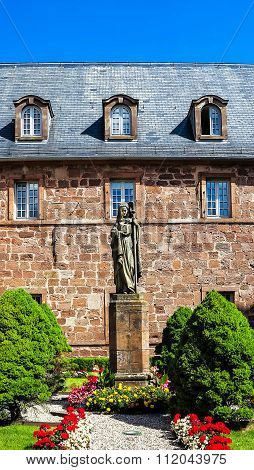 Monastery Sainte Odile patroness of Alsace, France