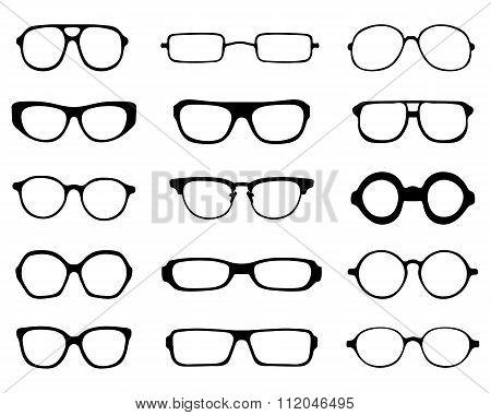 silhouettes of eyeglasses