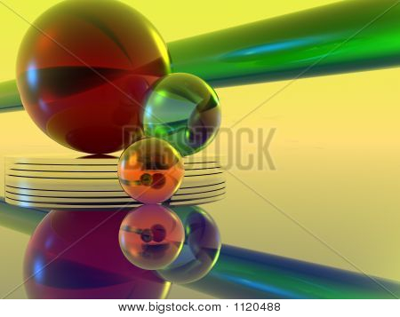 Colored Crystal Orbs