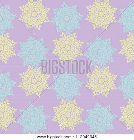 Bright Colored Seamless Pattern Of Openwork Stars