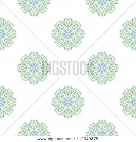 Colored Seamless Pattern Of Openwork Stars