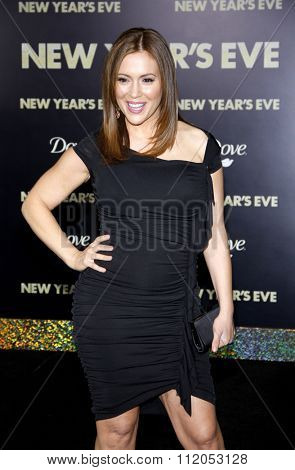 HOLLYWOOD, CALIFORNIA - December 5, 2011. Alyssa Milano at the Los Angeles premiere of