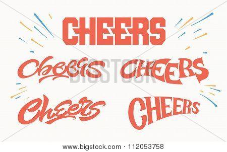 Cheers logo letterings