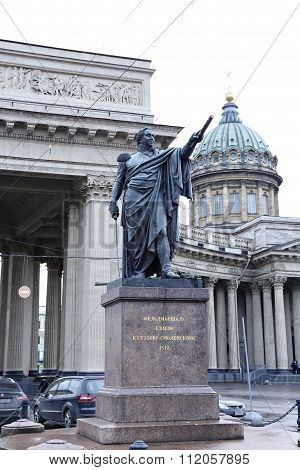 Monument To Field Marshal Prince Mikhail Kutuzov In St. Petersburg