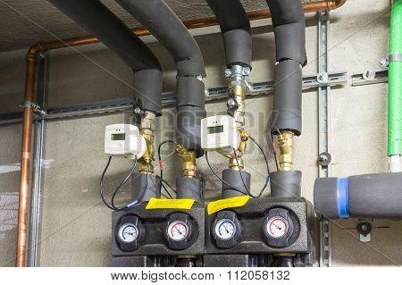 thermal energy meter for heating in the boiler room