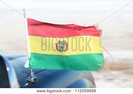 Bolivia Flag in the desert