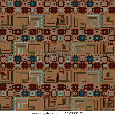 Set of seamless geometric square patterns