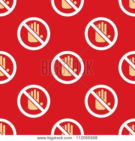 No entry hand stop pattern