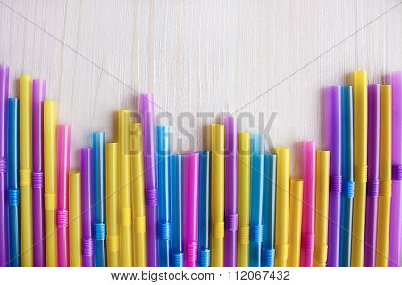 Multicolored cocktail tubules