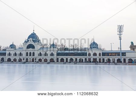 City Park Ice Rink In Budapest, Hungary