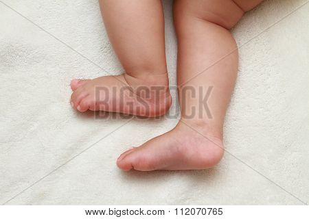 foot of Japanese baby girl (0 year old)