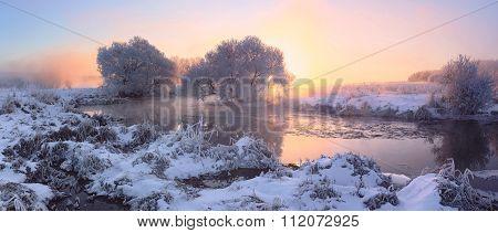 Colorful winter dawn