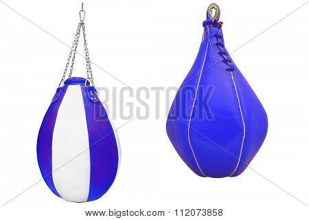 Punching bag isolated under the light background