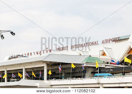 Phuket International Airport on DECEMBER 16 ,2015