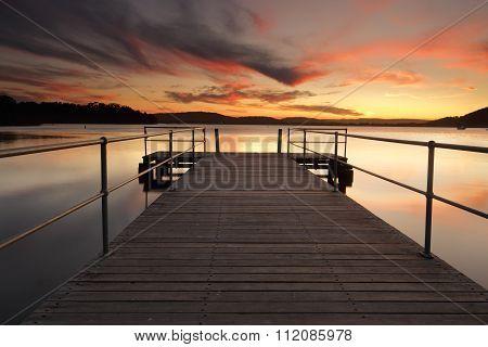 Stunning Summer Sunset From Carak Wharf