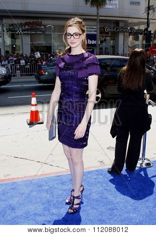 HOLLYWOOD, CALIFORNIA - April 10, 2011. Anne Hathaway at the Los Angeles premiere of