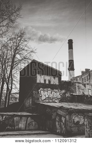 Gray industrial landscape