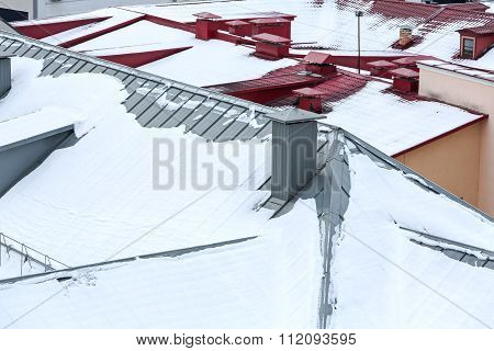 Snow On The Roof, Winter Scene