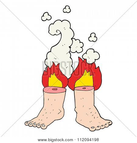 freehand drawn cartoon of spontaneous human combustion