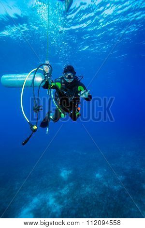 Diver With Additional Tank, Cuba