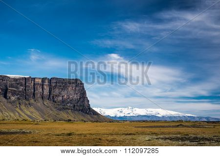 Icelandic mountains and glacer