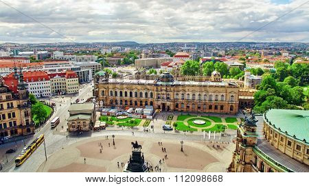 Dresden, Germany-september 08, 2015 :  Histoirical Center Of The Dresden Old Town. Dresden Has A Lon