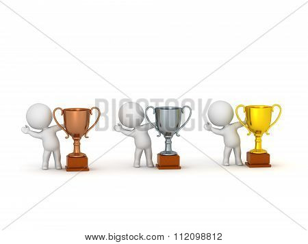 3D Characters And Trophies