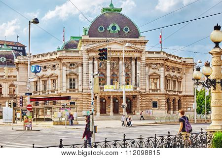 Vienna, Austria- September 10, 2015: Vienna Theatre. Cityscape  Views Of One Of Europe's Most Beauti