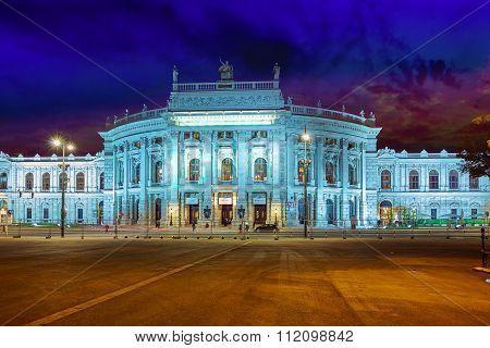 Vienna, Austria- September 10, 2015:burgtheater (imperial Court Theatre), Originally Known As K.k. T