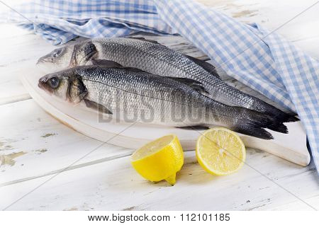 Two Raw Seabass
