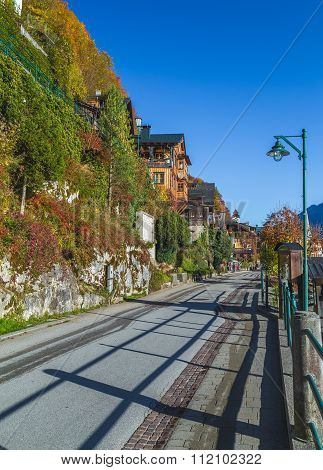 Road In Hallstatt Along The Waterfront