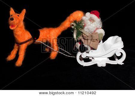 Santa Claus Rides A Fox
