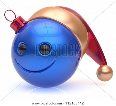 Christmas Ball Emoticon Smiley Face Adornment New Year Smile