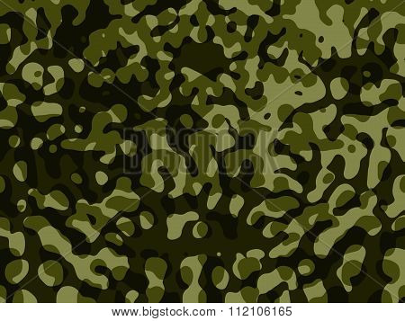 Army/Military Camouflage Background on Blue Background