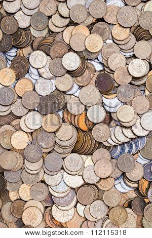 background with coins - Polish currency zloty