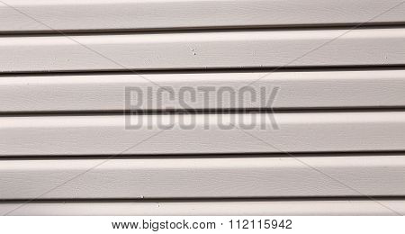 Installation On Facade Panels Beige Vinyl Siding