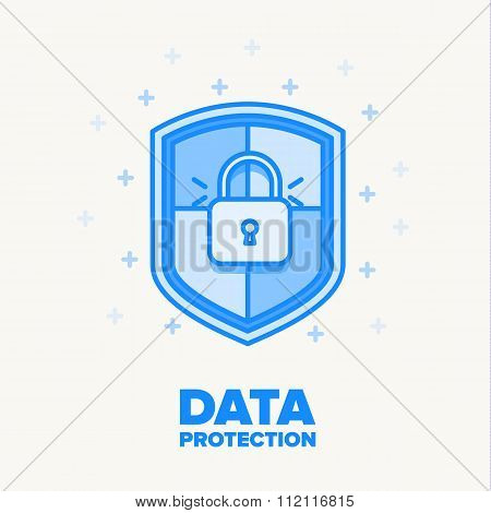 data protection thin blue line design