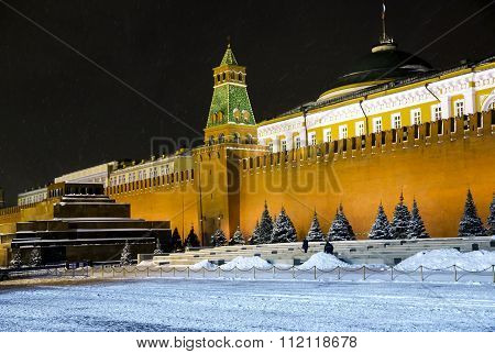 Kremlin wall and Mausoleum on Red Square