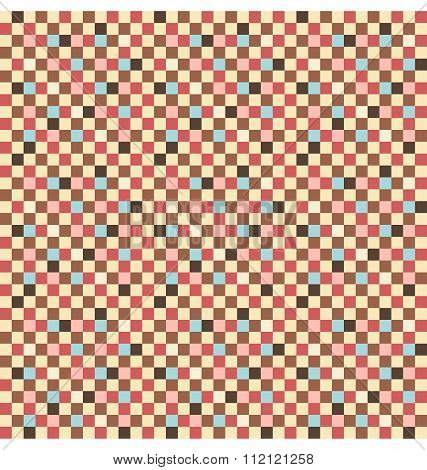 Seamless square pattern with multicolor squares