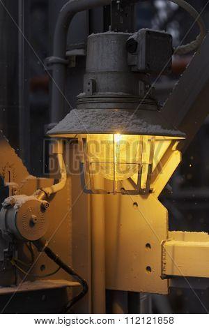 industrial night lamp closeup