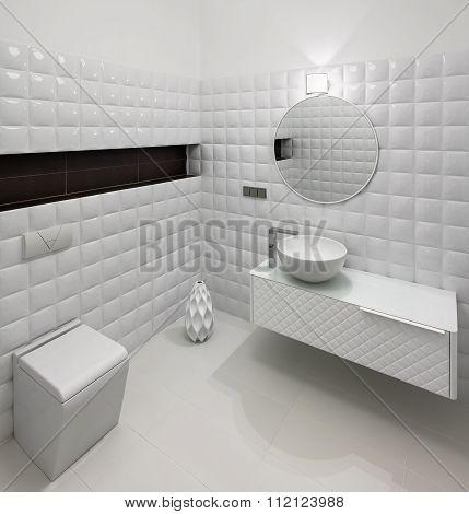 Modern Restroom Interior
