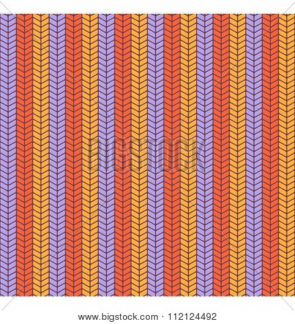 Seamless bright fun abstract vertical knitted pattern isolated o