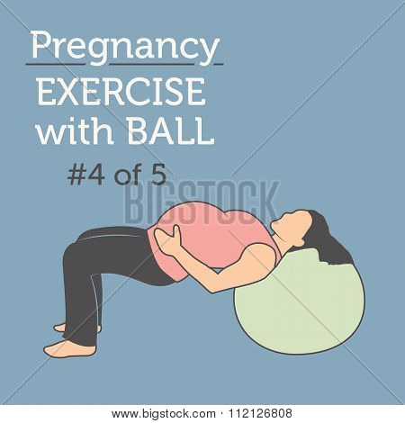 A Beautiful Young Lady doing her Daily Pregnancy Exercise with a Sweet Fitness Ball