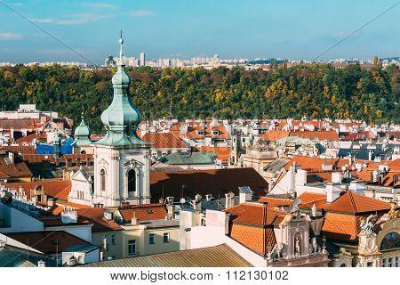 Famous scene, cityscape of Prague, Czech Republic.