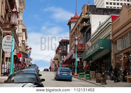 Chinatown In San Francisco. California, Usa