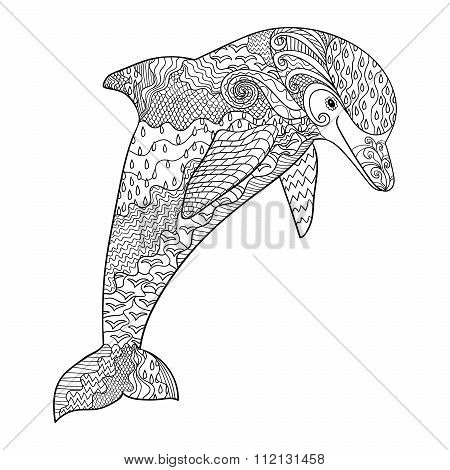 Happy dolphin with high details.